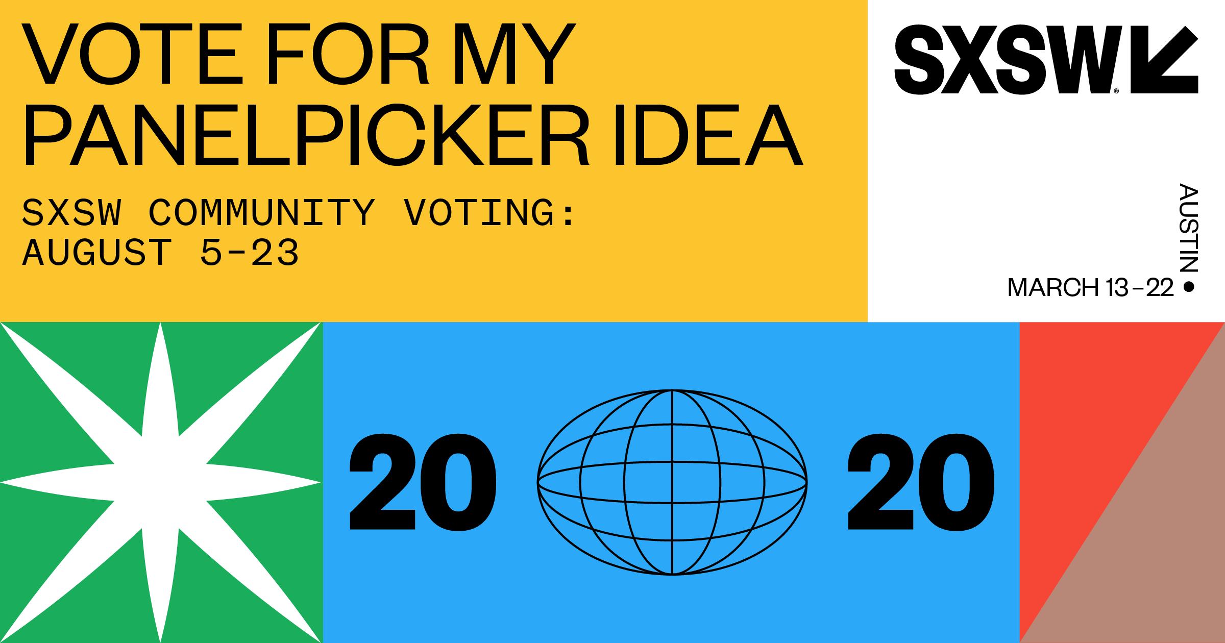 SXSW PanelPicker 2020 voting