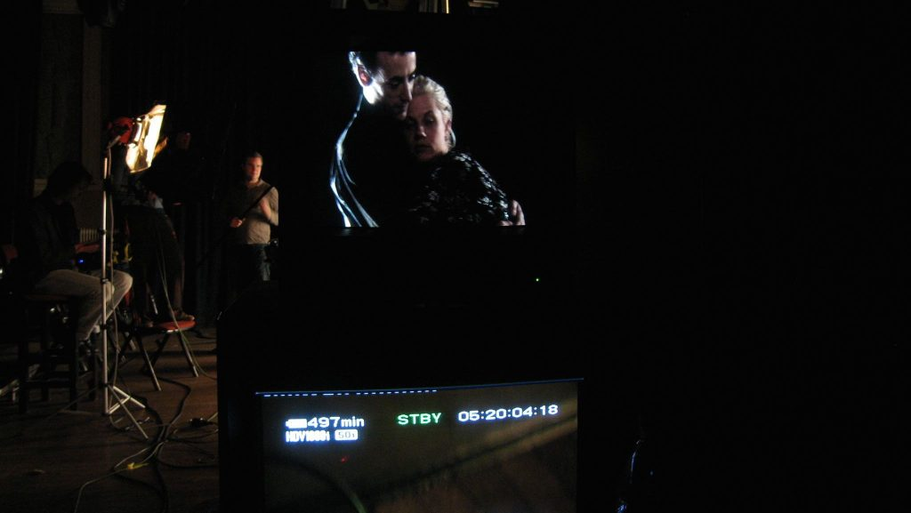 matinee-erotic-film-bts-backstage-monitor-steven-mcalistair-alicia-whitsover-jennifer-lyon-bell-blue-artichoke-films