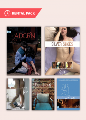 The Blue Artichoke Films Rental Pack includes 72-hour streaming rentals of all our cinema films directed by Jennifer Lyon Bell: Adorn, Silver Shoes, Skin.Like.Sun., Matinee, and Headshot