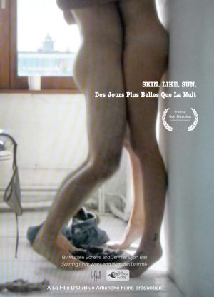 Poster erotic film Skin Like Sun (Des Jours directed by Jennifer Lyon Bell of Blue Artichoke Films and Murielle Scherre of La Fille D'O